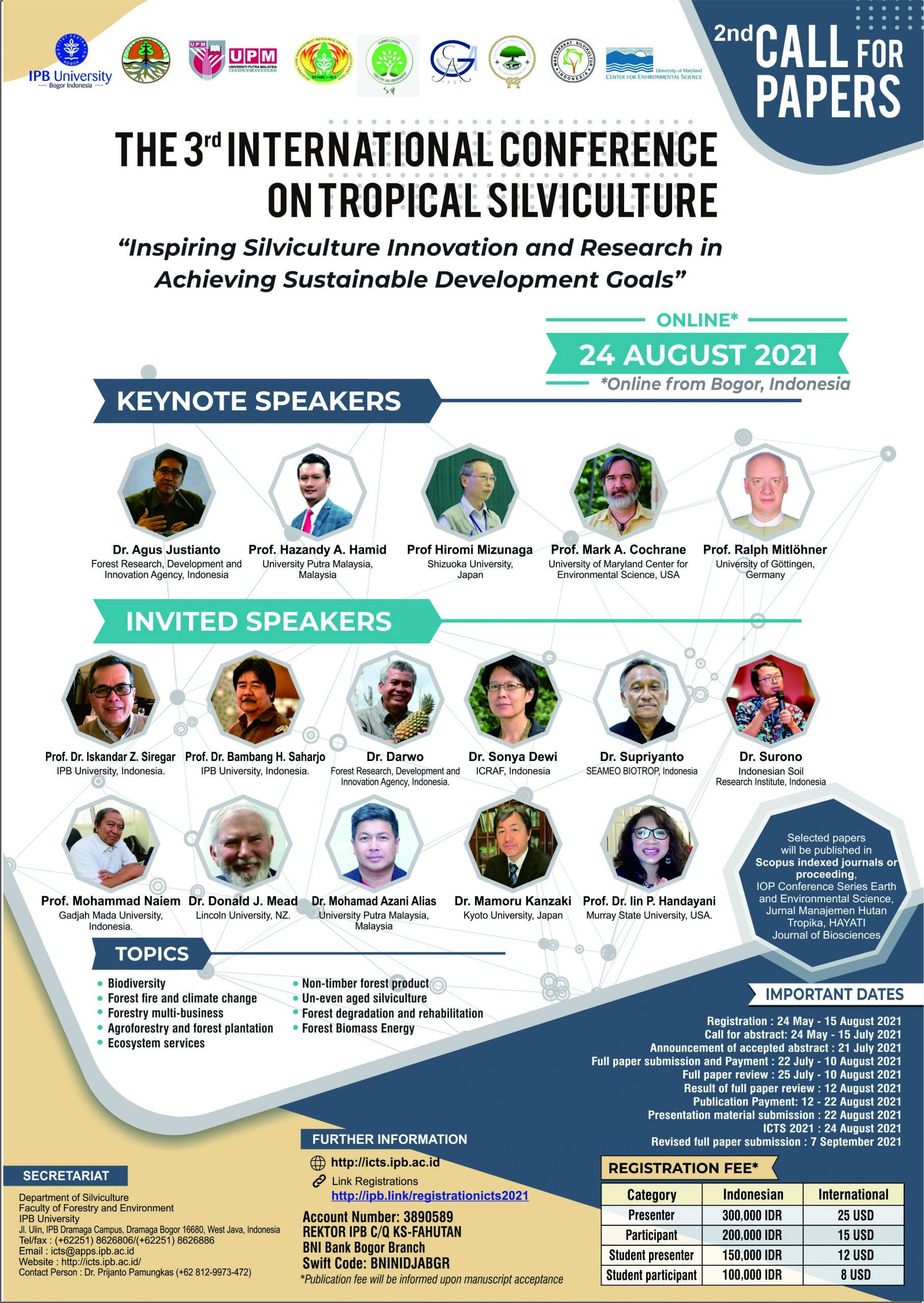 The 3rd International Conferenceon Tropical Silviculture (ICTS 2021)